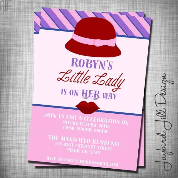 trendy hipster baby shower invitation