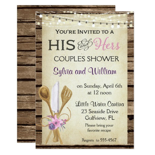 bridal shower invitation his hers