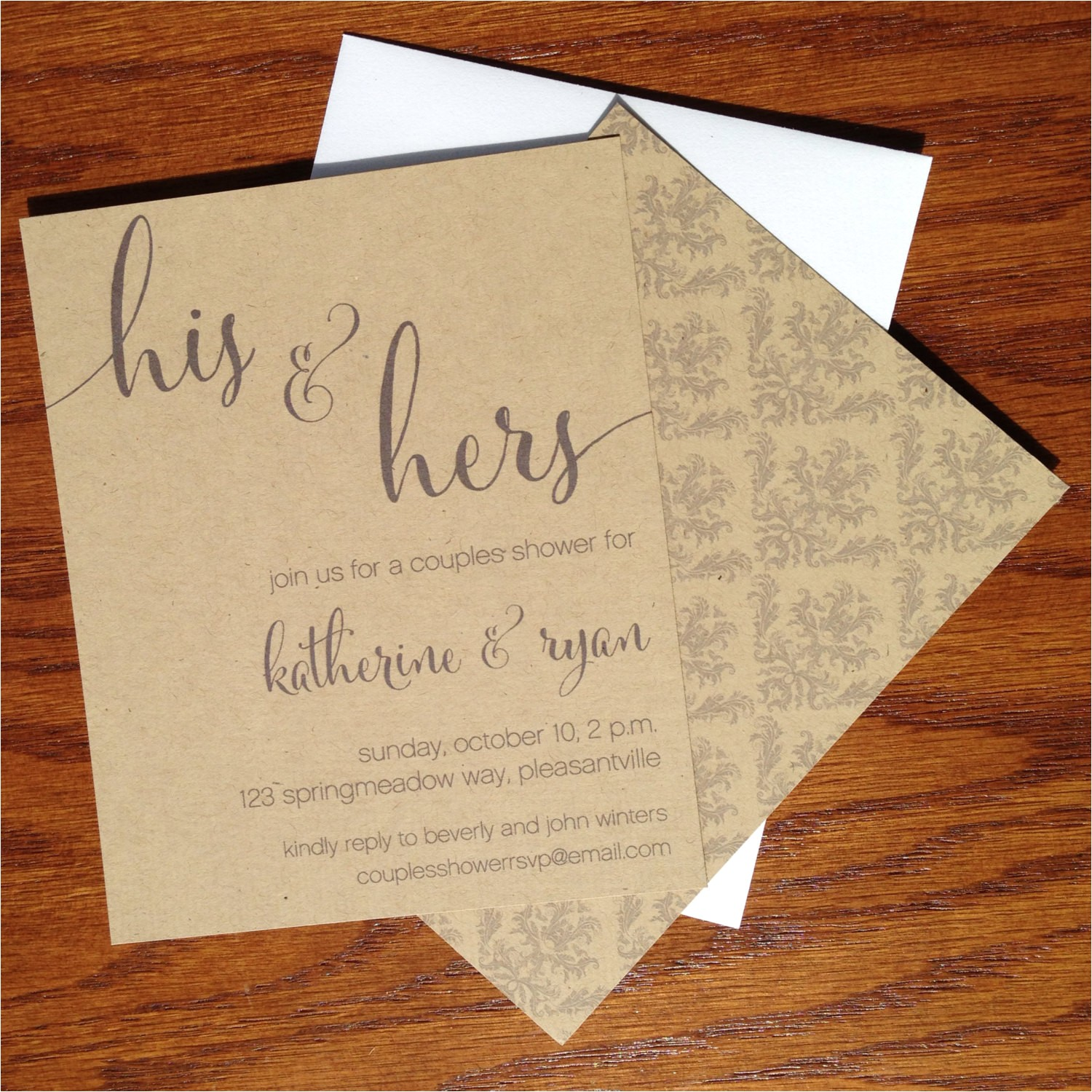 couples shower invitations his and hers