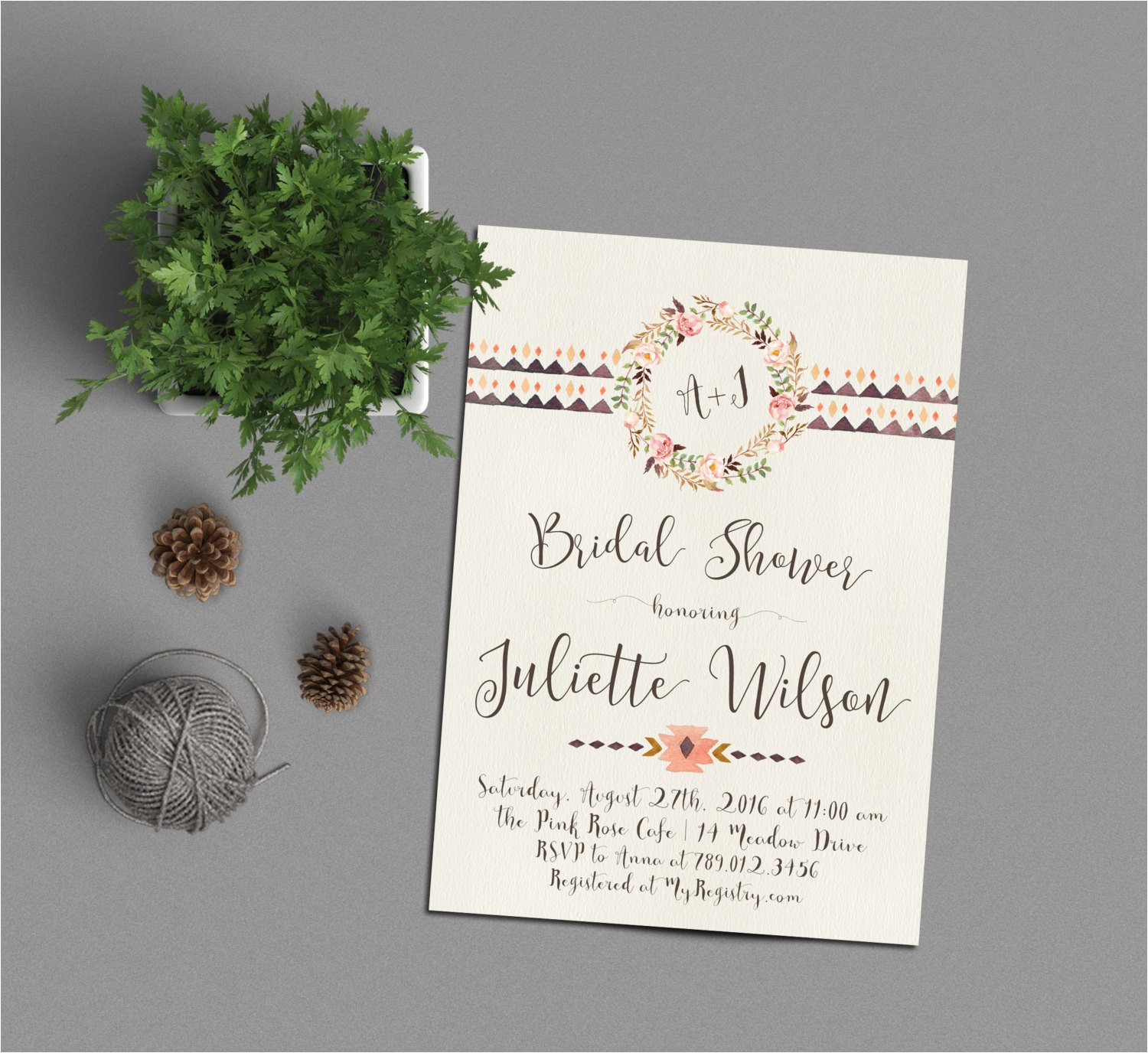 couples bridal shower invitation his and