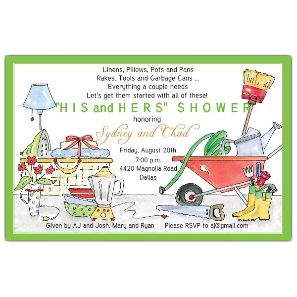 His and Hers Bridal Shower Invitations His and Hers Shower Invitations