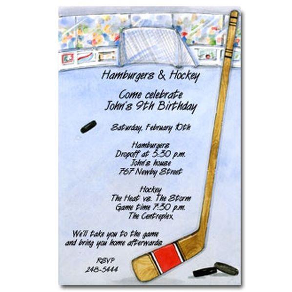 hockey birthday invitation templates