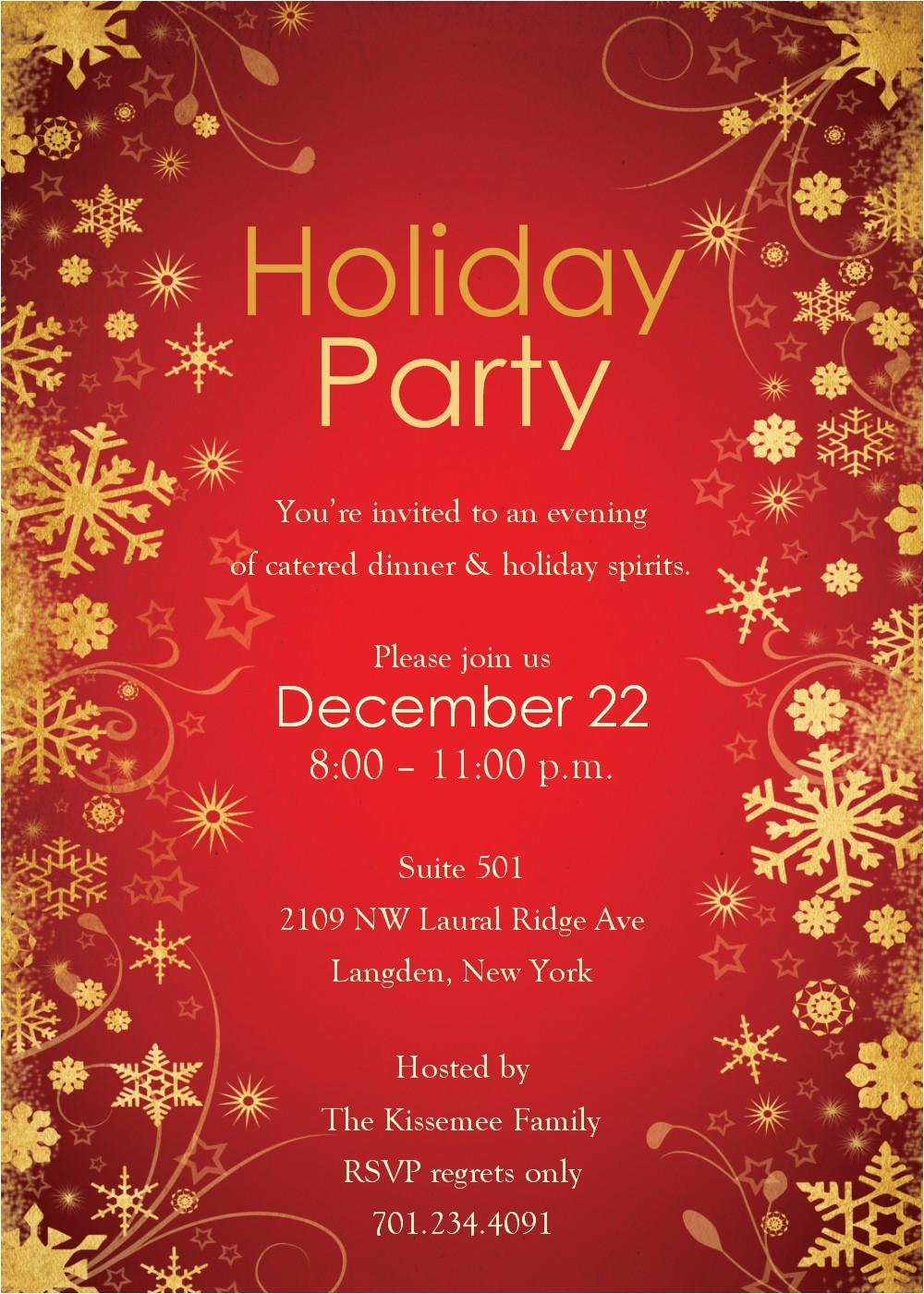 free holiday party invitation templates