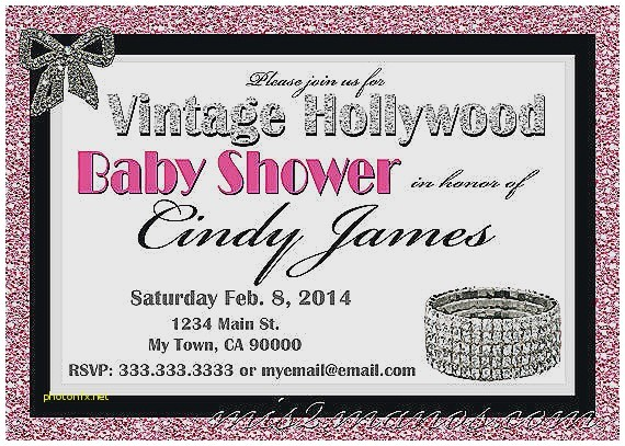 hollywood baby shower invitations