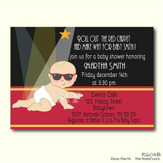 hollywood baby shower invitation celebrity babies