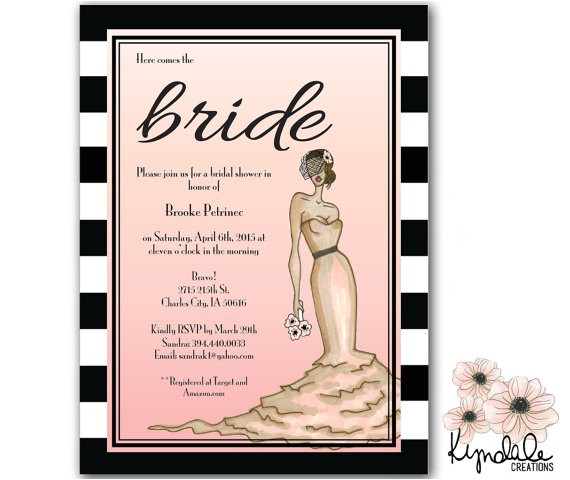 old hollywood bridal shower invitations