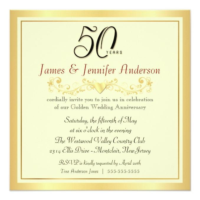 homemade 50th anniversary invitations