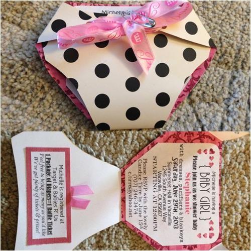 diy baby girl shower invitations ideas