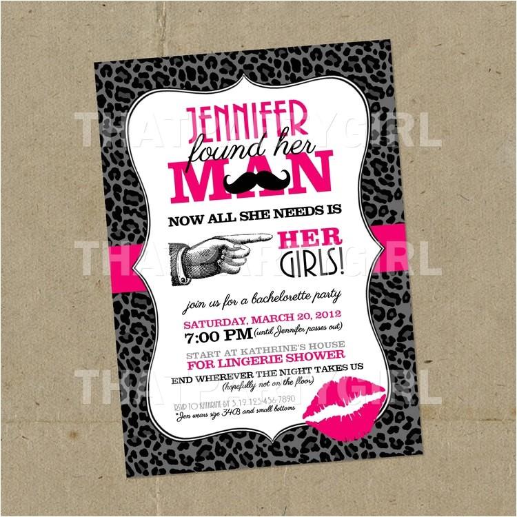 bachelorette party invitations diy