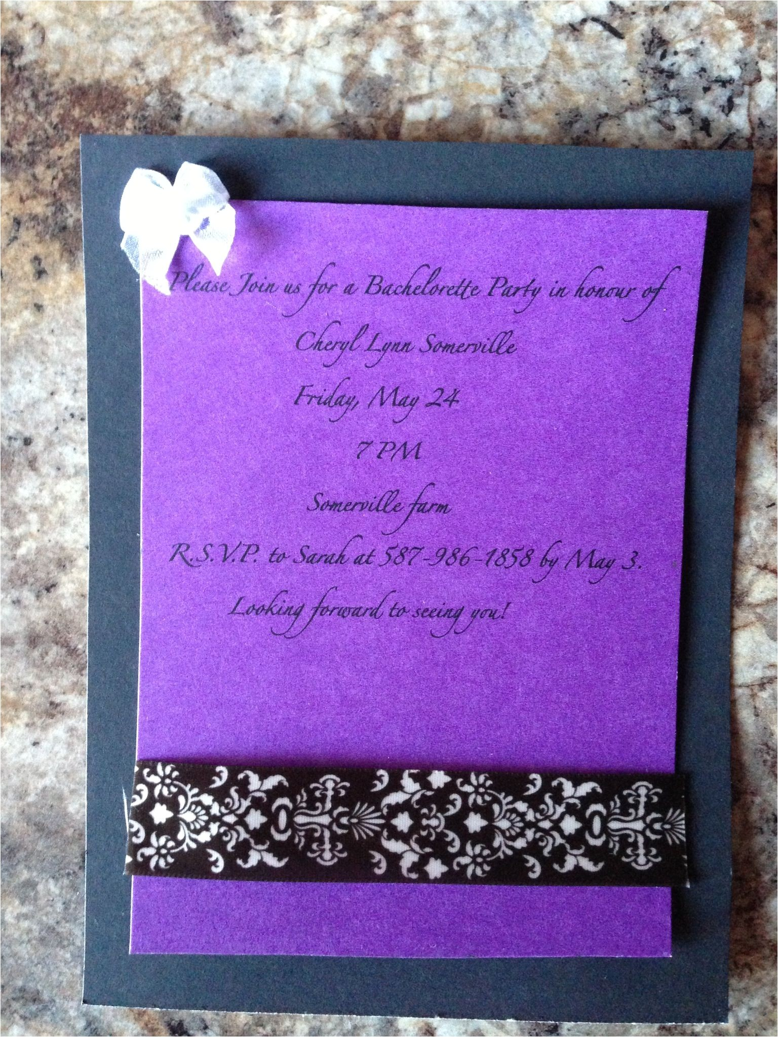 Homemade Bachelorette Party Invitations Homemade Bachelorette Party Invitations