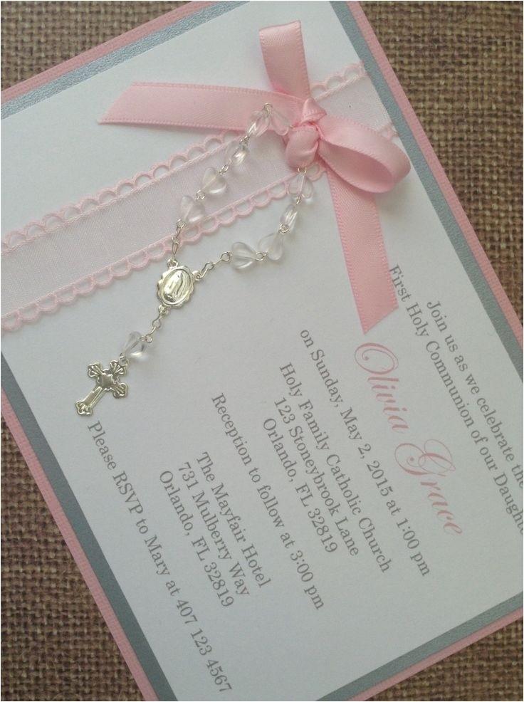 handmade baptism invitations