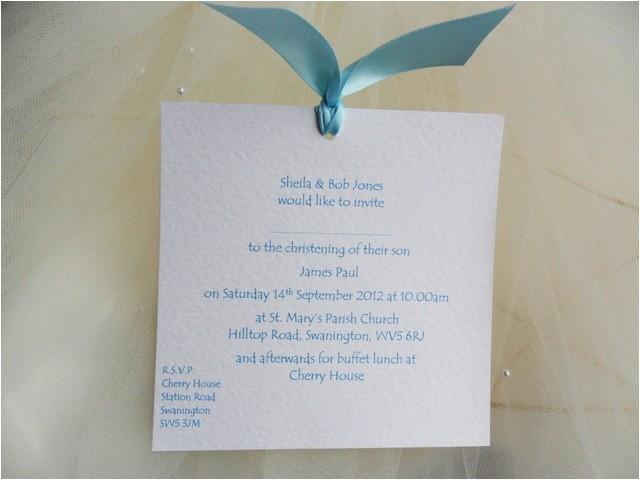 handmade christening invites
