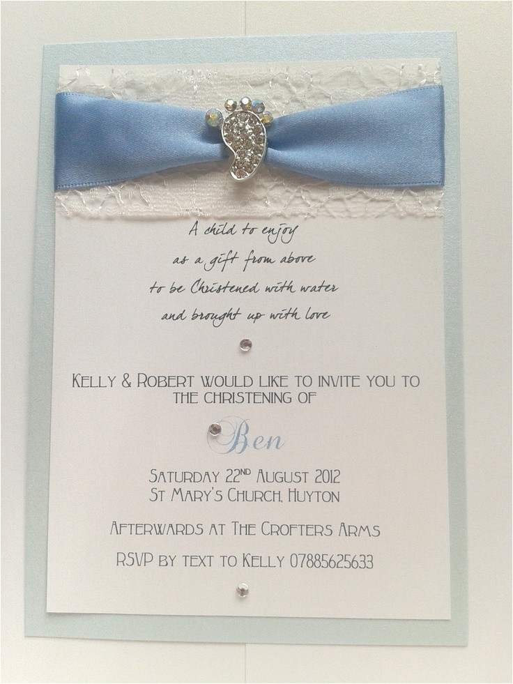 Homemade Baptism Invitations Handmade Christening Invitations Cards