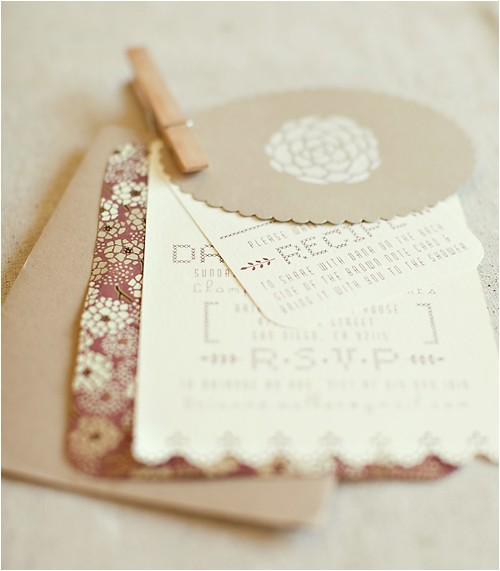 handmade wedding shower invites