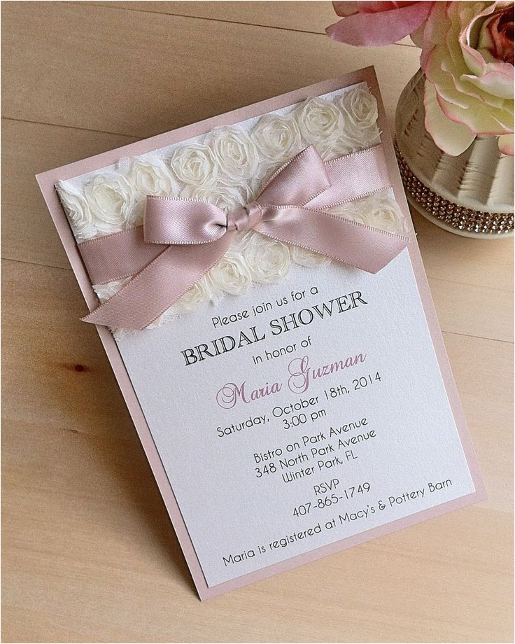 wedding shower invitations diy