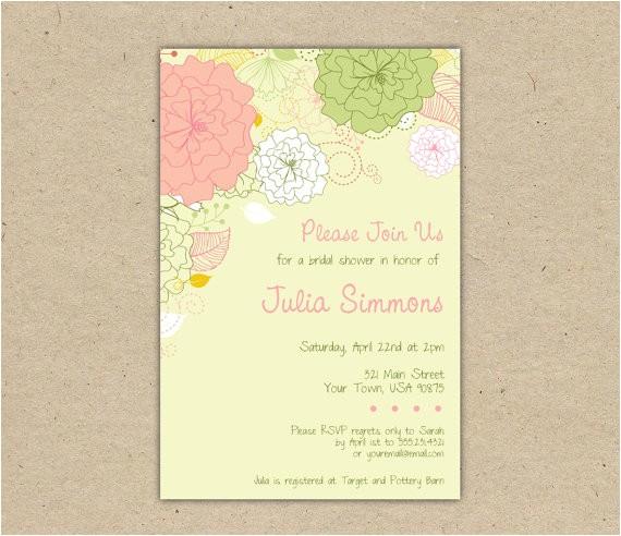 free diy bridal shower invitations