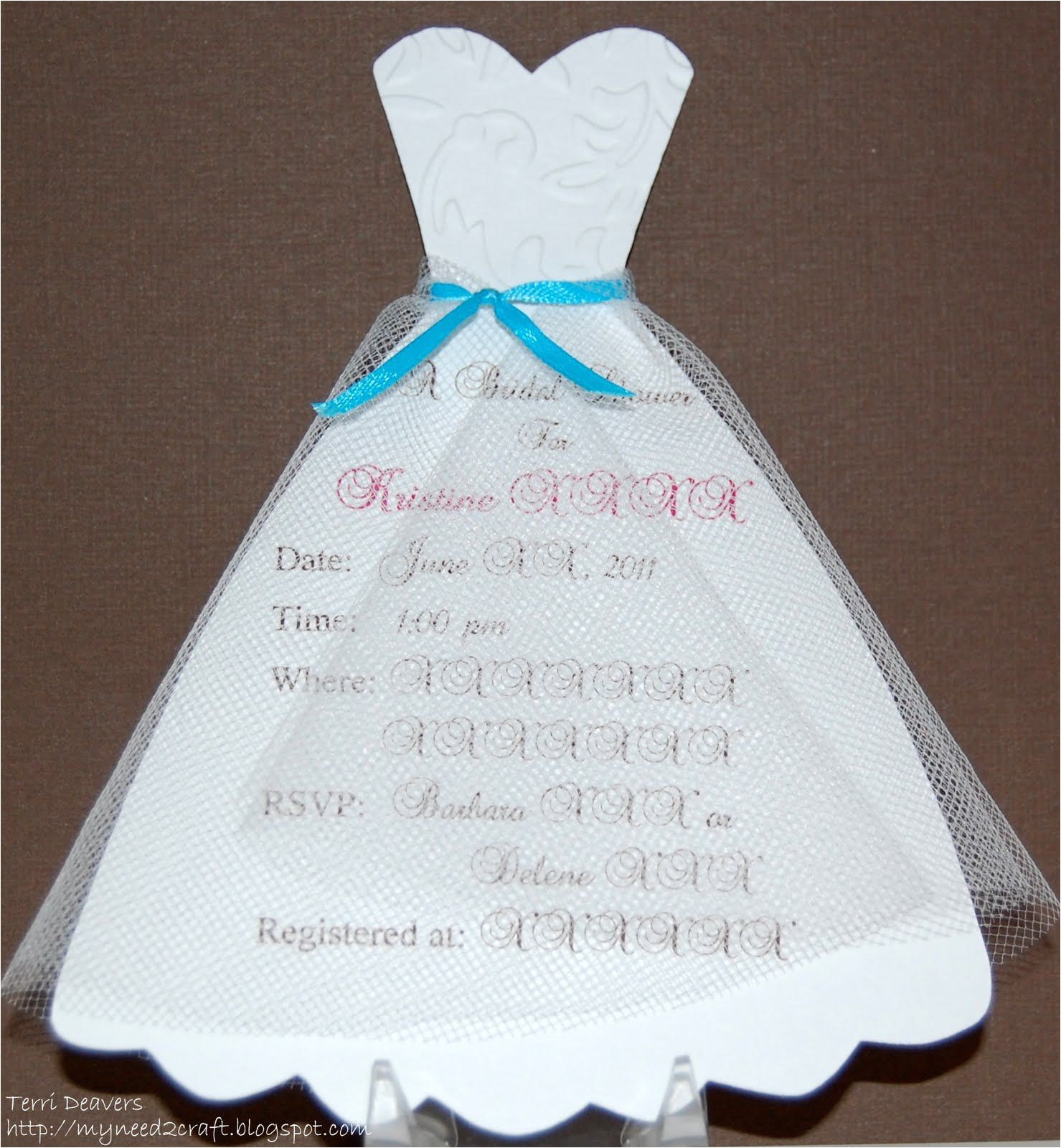 diy bridal shower invitations examples