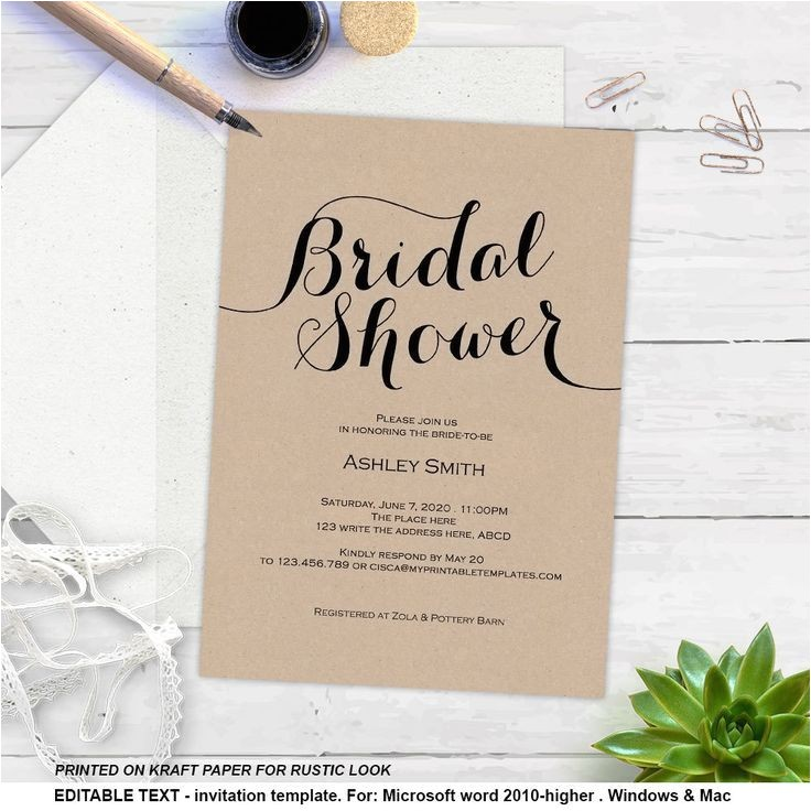 wedding shower invitations diy
