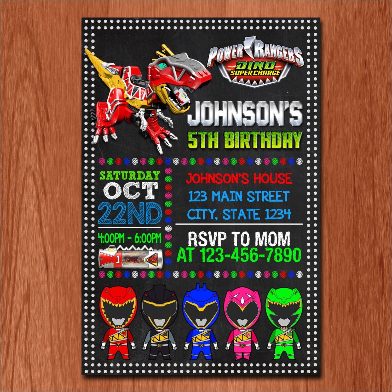 power rangers birthday card