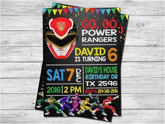 Homemade Power Ranger Birthday Invitations 17 Best Ideas About Power Ranger Birthday On Pinterest