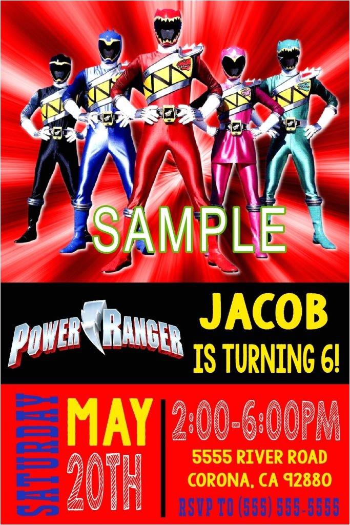 green power ranger birthday card