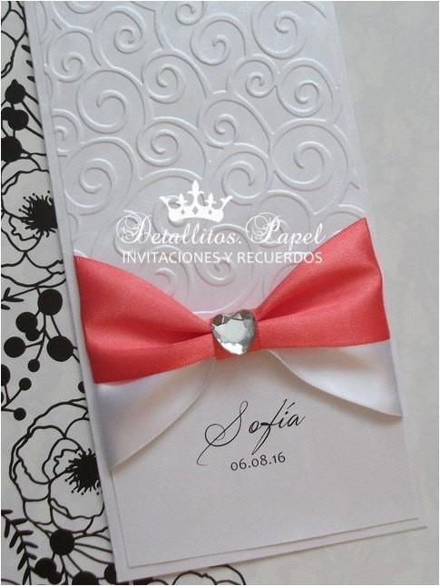wedding invitation handmade quinceanera