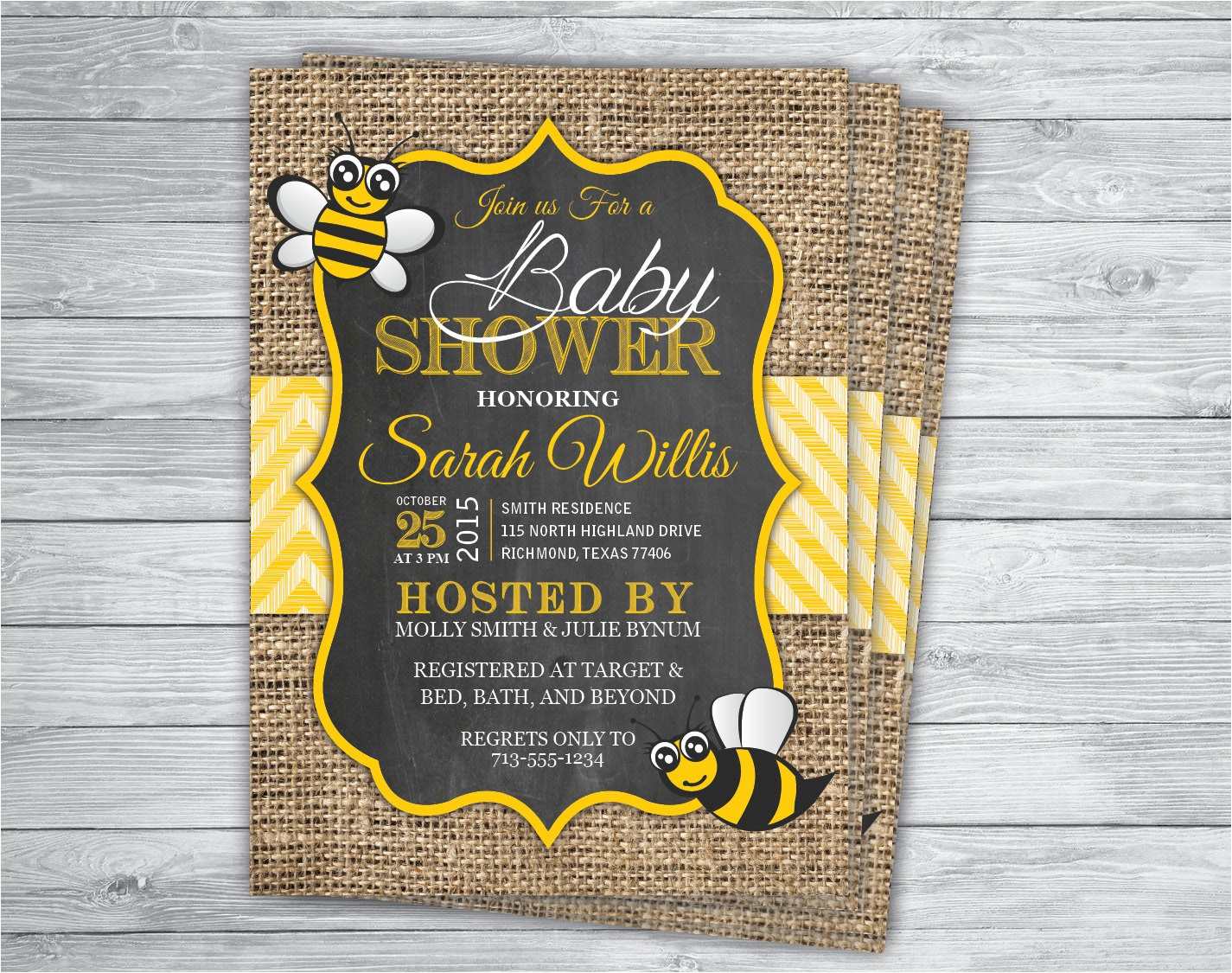 bee honey bumble any event baby shower