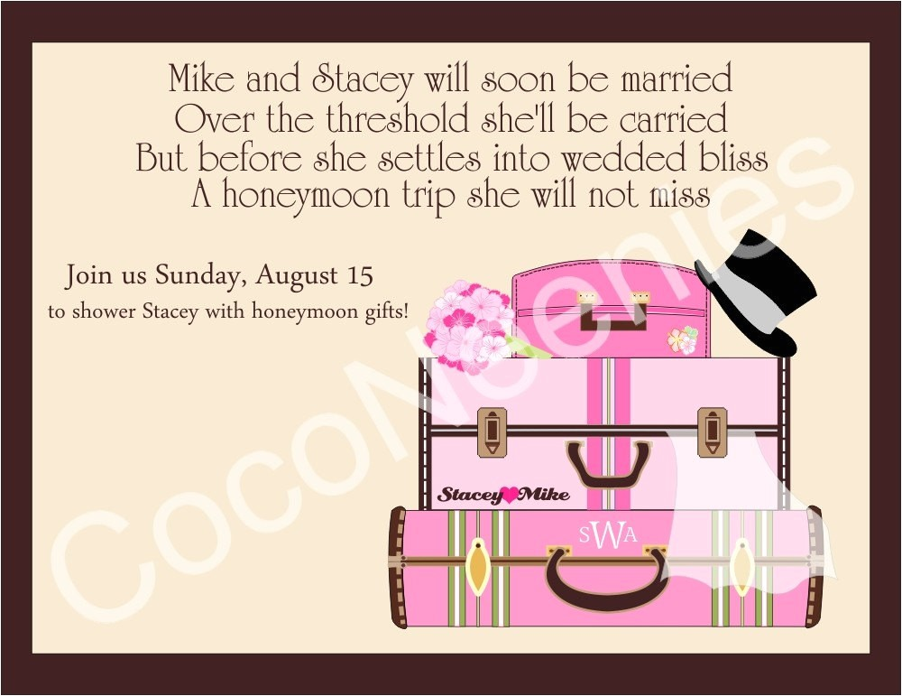 honeymoon themed bridal shower