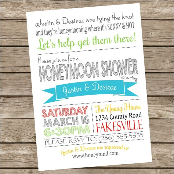 printable honeymoon shower party