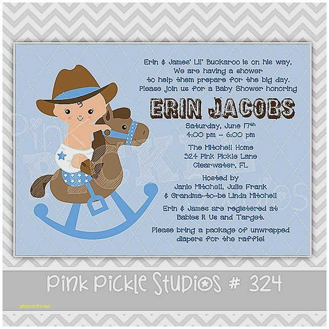 horse themed baby shower invitations