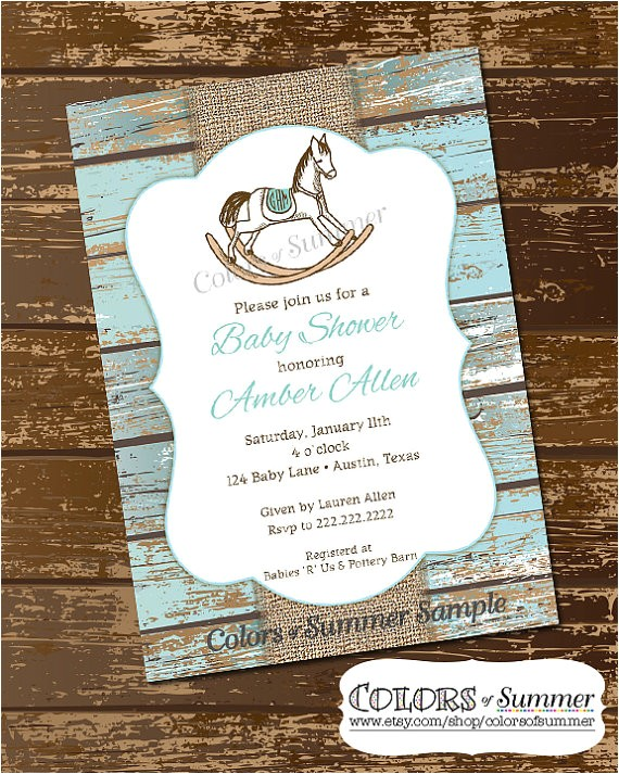 Horse themed Baby Shower Invitations Rocking Horse Baby Shower Ideas Baby Shower Ideas