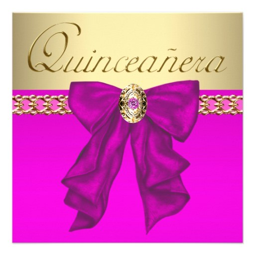 hot pink quinceanera custom invitation 161155507220391725