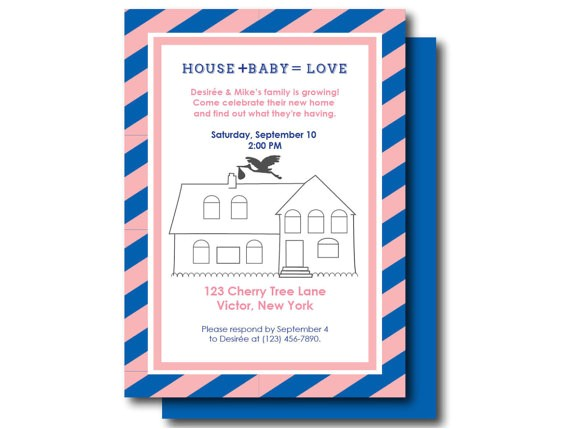 housewarming and baby shower invite