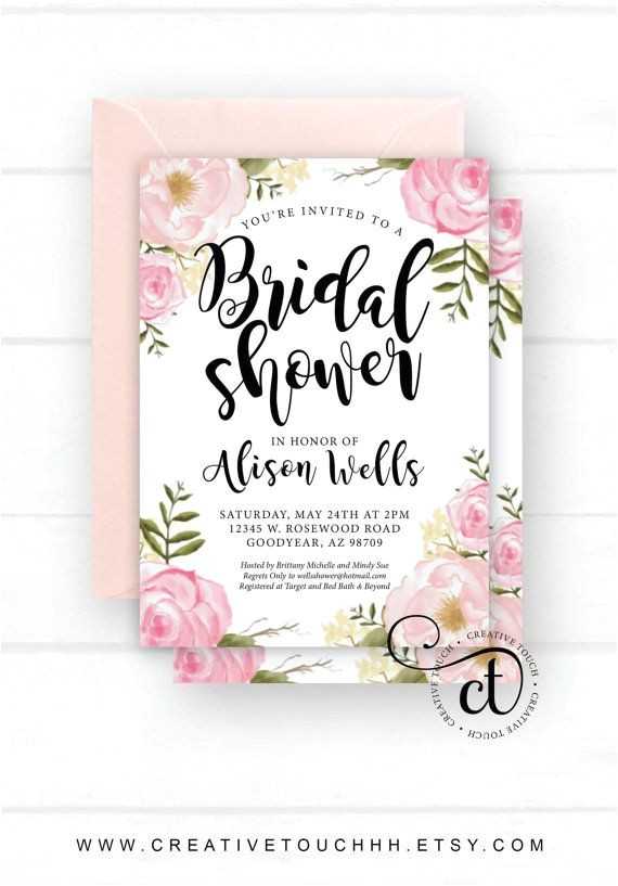 bridal shower invitations how far in advance to send