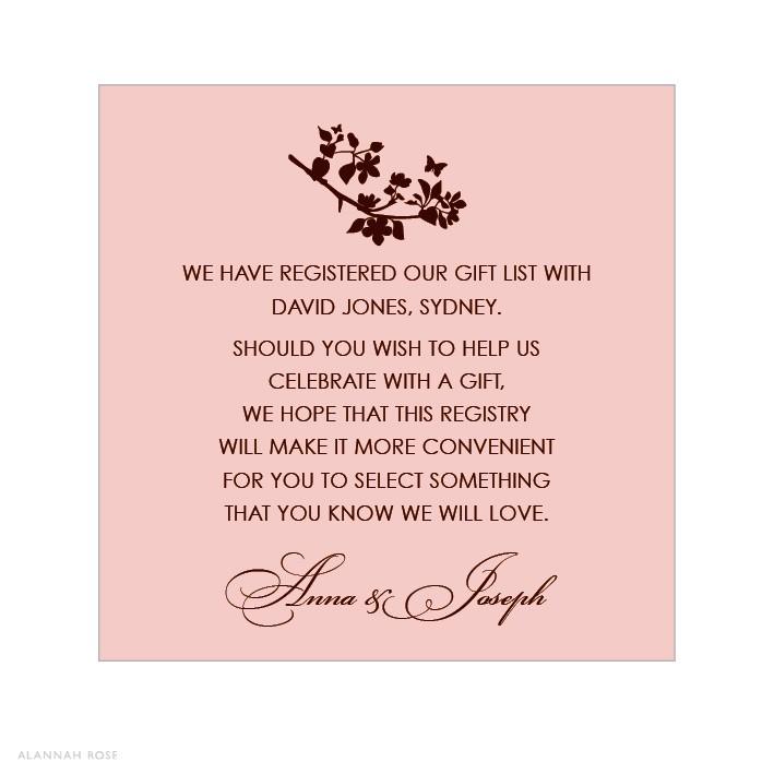 bridal shower gift registry insert wording google sear