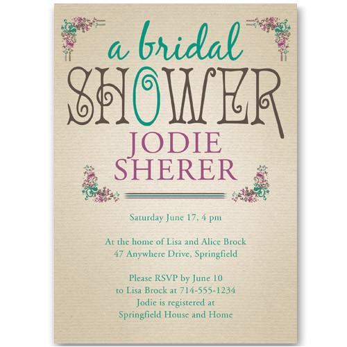 affordable vintage bridal shower invitations ewbs040
