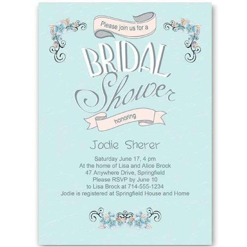 cheap baby blue winter bridal shower invitation ewbs045