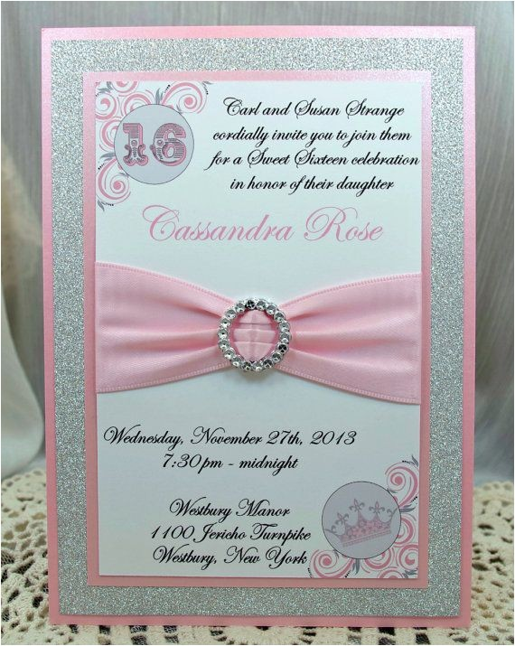 How to Make Homemade Invitations for Quinceaneras Pink and Grey Quinceanera or Sweet 16 Invitations by