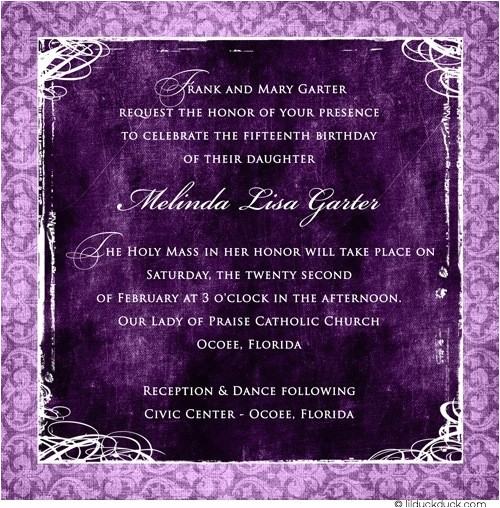 modern quinceanera photo invitation