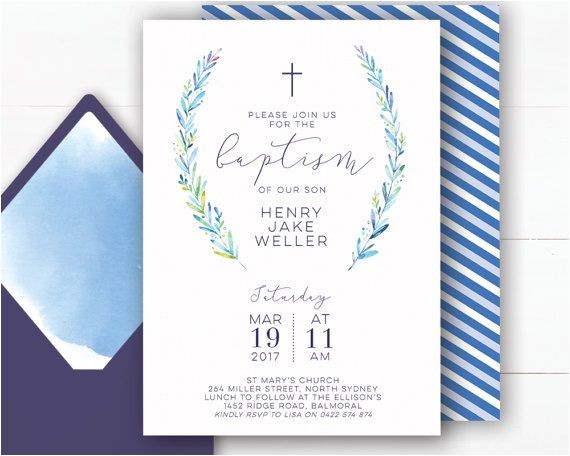 christening invitations boy