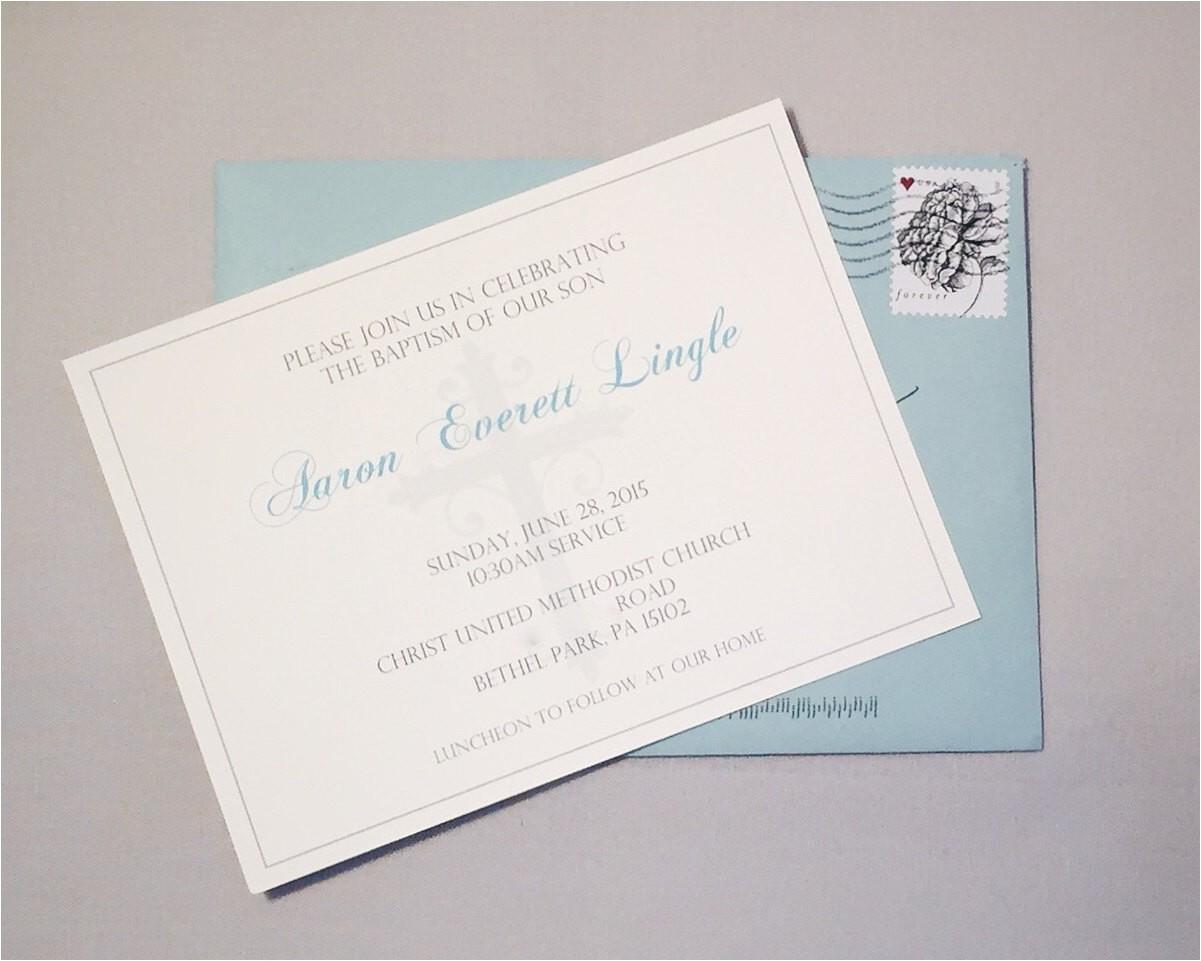simple elegant baptism invitations for