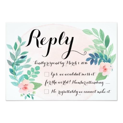 pastel wedding reply cards