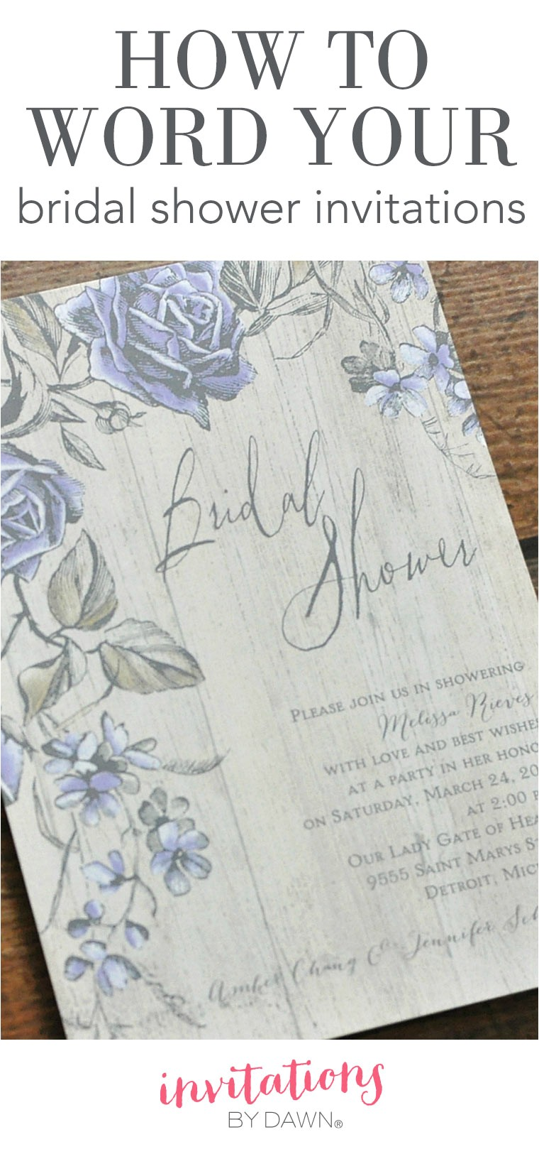 how to word a bridal shower invitation
