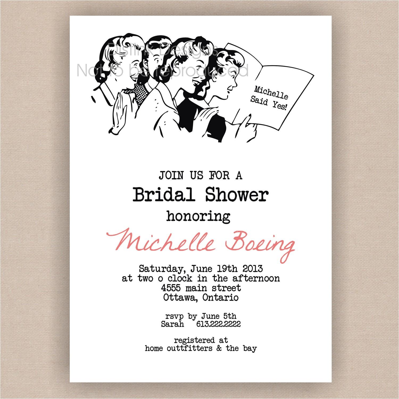 tar bridal shower invitations template