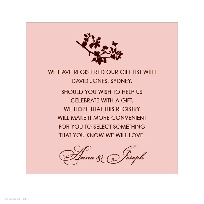 bridal shower t registry insert wording google sear
