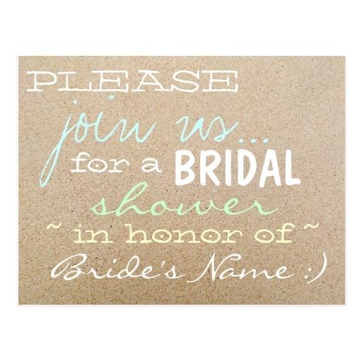 bridal shower invitation write up