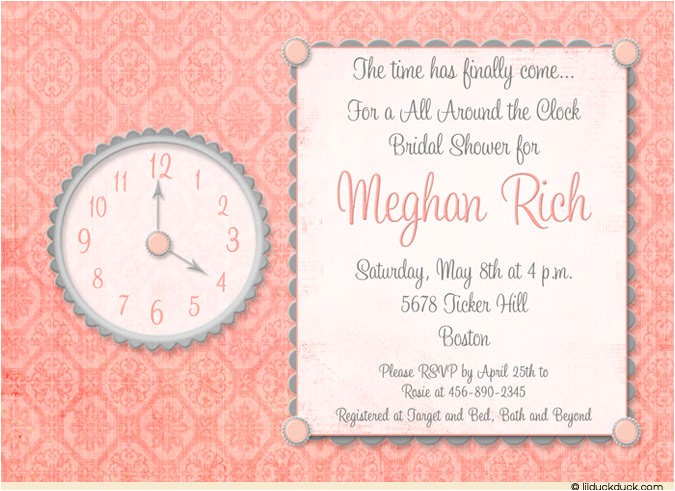 How to Write Bridal Shower Invitations Time Of Day Bridal Shower Invitation Design Hostess Write