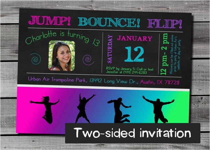 trampoline birthday party