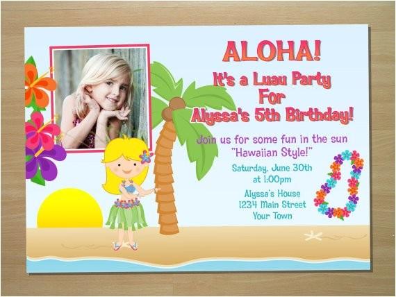 Hula Birthday Party Invitations Hula Girl Birthday