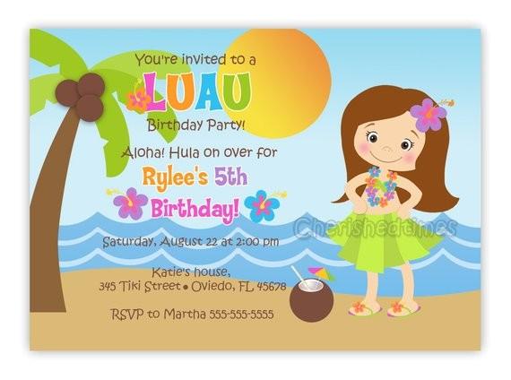hula girl or boy birthday party